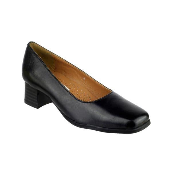 Amblers Walford X Wide Court Ladies Shoes Black